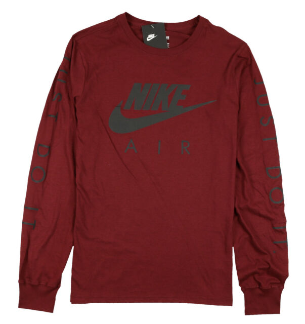 great deals 2017 new style various colors NIKE Air Max Logo Long Sleeve Shirt sz S Small Burgundy Black Reflective