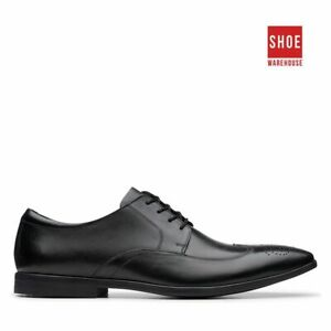 Clarks BAMPTON WING Black Mens Lace-up Dress/Formal Leather Shoes