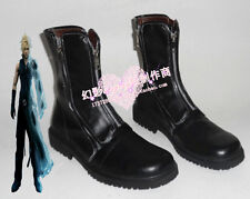Final Fantasy Cloud Strife Black Short Halloween Cosplay Shoes Boots H016