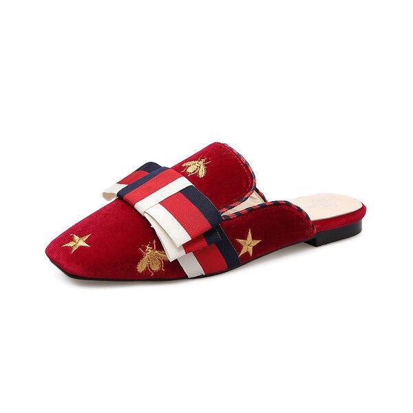 Ciabatte eleganti sabot  rosso colorato basse eleganti comodi simil simil simil pelle 9844 2bed4f