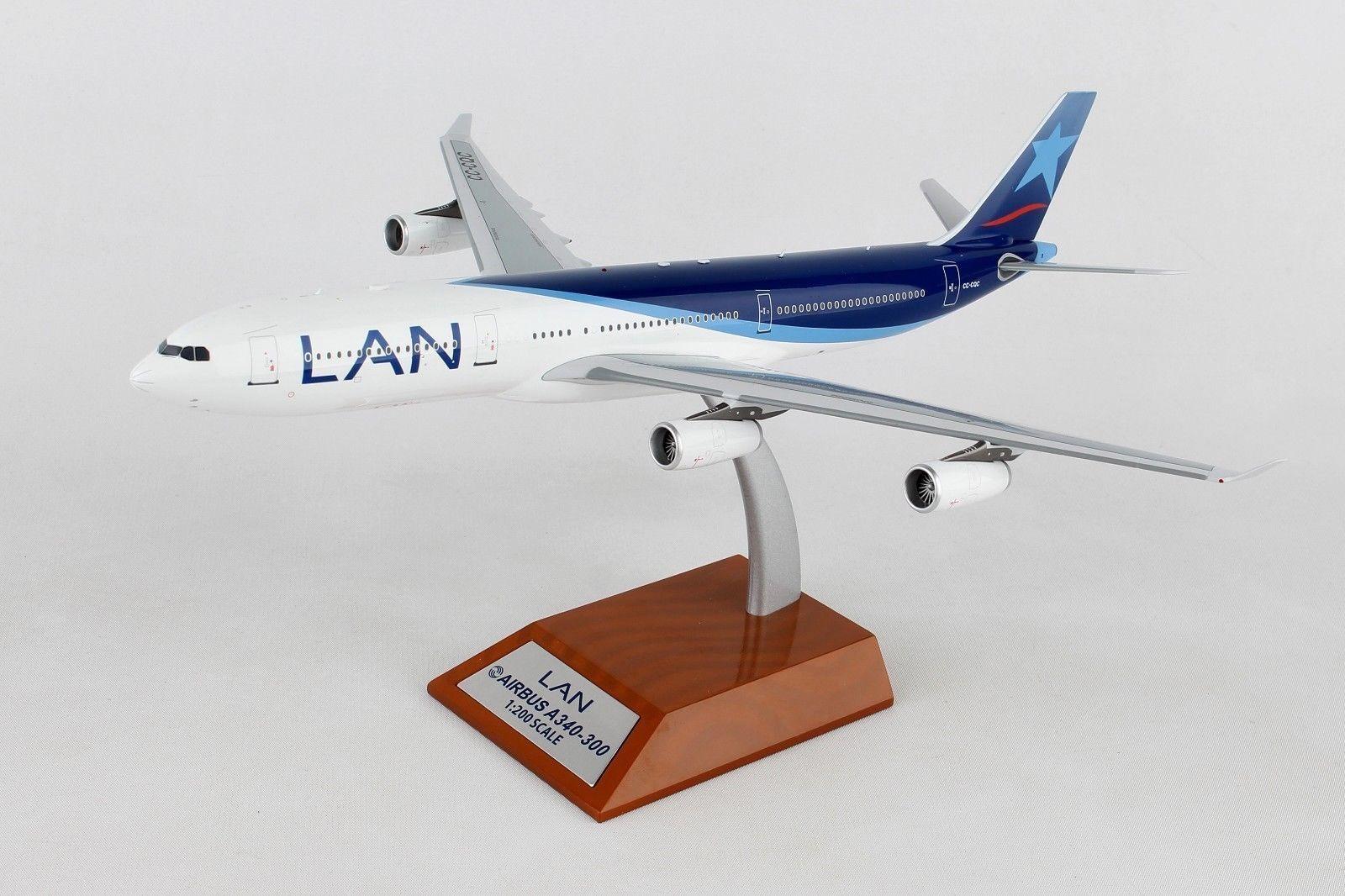 Inflight Inflight Inflight 200 IF343LAN001 1/200 Lan Airlines Airbus A340-300 Cc-Cqc con Supporto 5d8665
