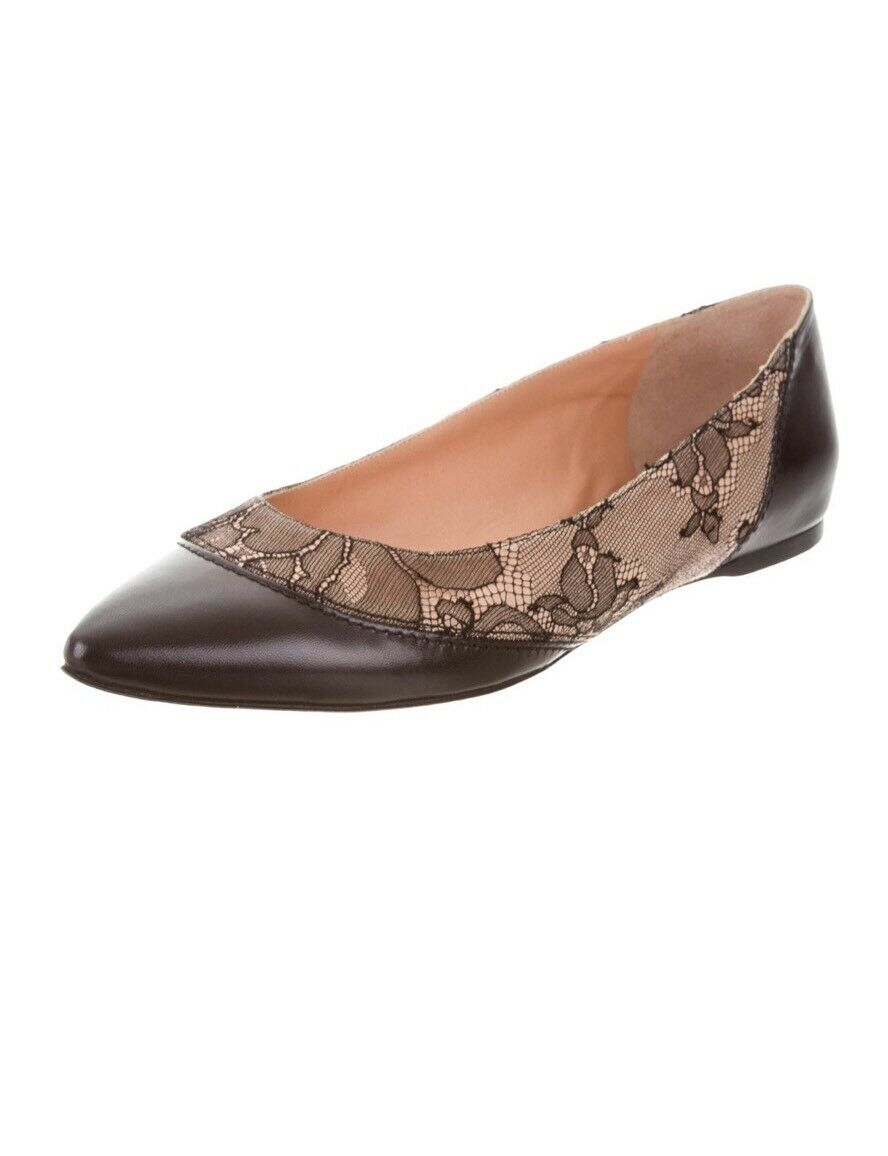 EVERLANE ITALY 'THE MODERN POINT LOAFER' FLATS US $300 BLACK LEATHER  US FLATS 6.5 NWOB! e346ea
