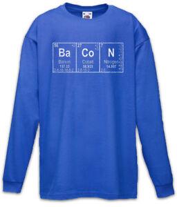 Ba-Co-N-I-Kinder-Langarm-T-Shirt-Bacon-Fun-Teacher-Scientist-Chemistry-Schinken