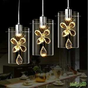 Modern-K9-crystal-flower-chandelier-restaurant-LED-ceiling-lamp-pendant-lights