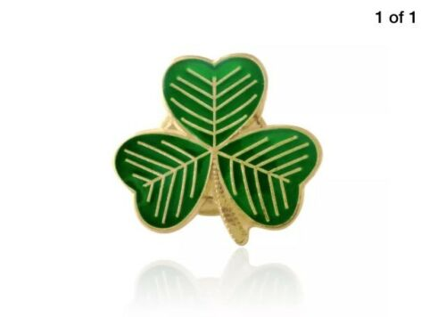 10 IRELAND LUCKY IRISH SHAMROCK PIN BADGES