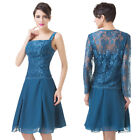 Fashion Lace Outlet Short Mother of Bride Formal Cocktail Plus Size Dress Jacket