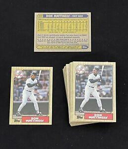 Lot of 2 Don Mattingly 1987 Topps Set Break Baseball Card #500 * PACK FRESH MINT