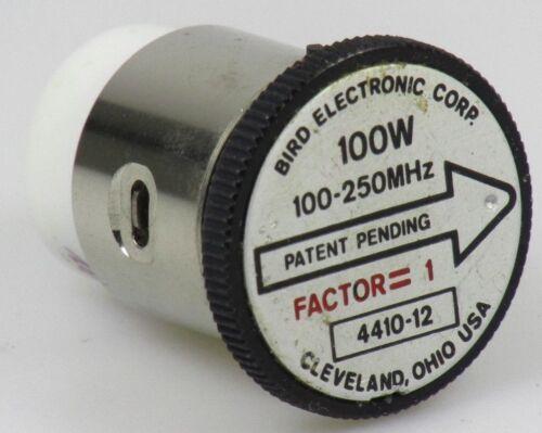 Bird Thruline Wattmeter Element 4410-12  100mW-100W  100-250 MHz 4410a