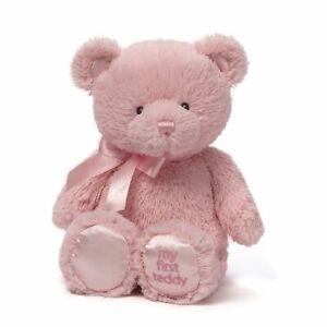 Baby-Gund-My-First-Teddy-Bear-Stuffed-Animal-Plush-Pink-15-034-New-Free-Shipping
