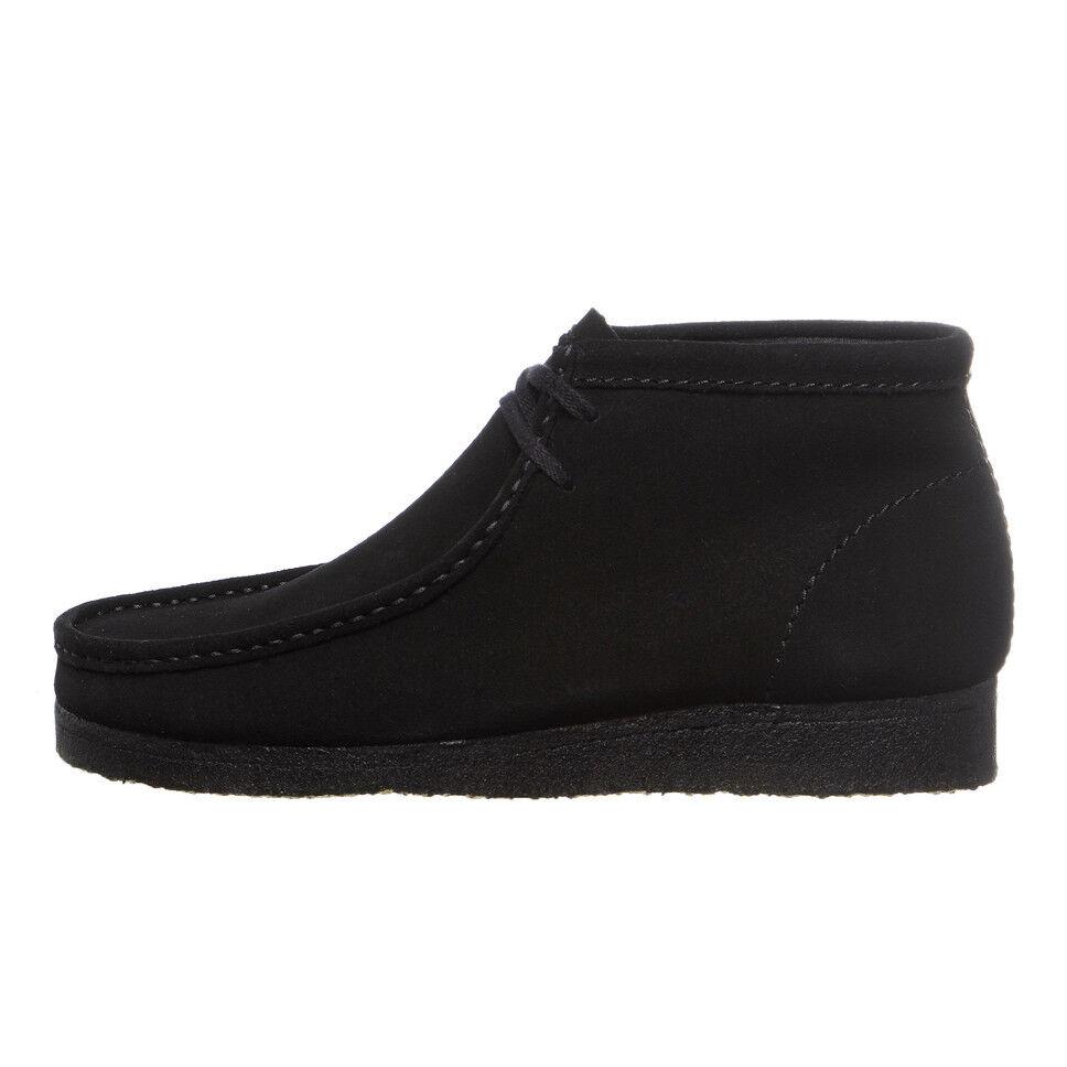 Clarks - Wallabee Boot Black Suede Schnürschuhe Schuhe