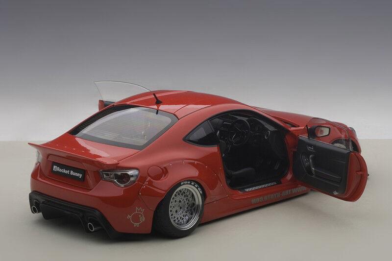 Autoart Razzo Coniglietto Toyota 86 Rosso/Argento Ruote 1/18 Scala