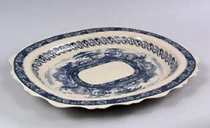 Blue and White Transferware Porcelain Serving Platter