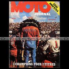 MOTO JOURNAL N°130-b BMW R 75 CHENEY DERBI 50 KIT KREIDLER 1973 ★ POSTER CROSS ★