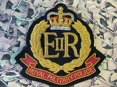 Royal Military Police Blazer Badge Bullion RMP Queens Crown