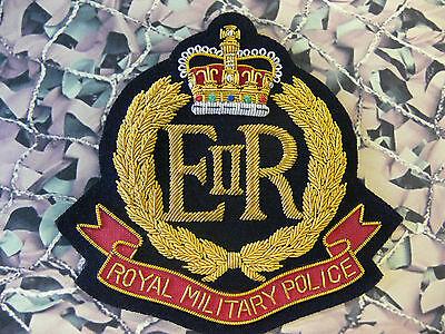 Royal Military Police Blazer Badge Bullion RMP Queens Crown