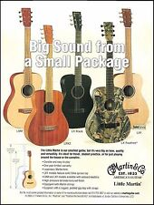 The 2005 Little Martin LX Series LXM LX1 LXK2 Realtree Black guitars 8 x 11 ad