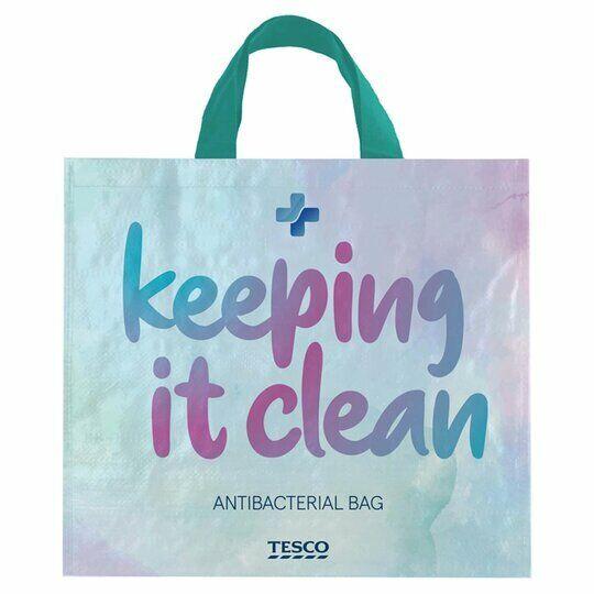 TESCO Large Shopping Bag Anti-bacterial Reusable Tote  tesco clubcard