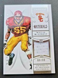 2015 Panini National Treasures Willie McGinest USC Trojans New England Patriots