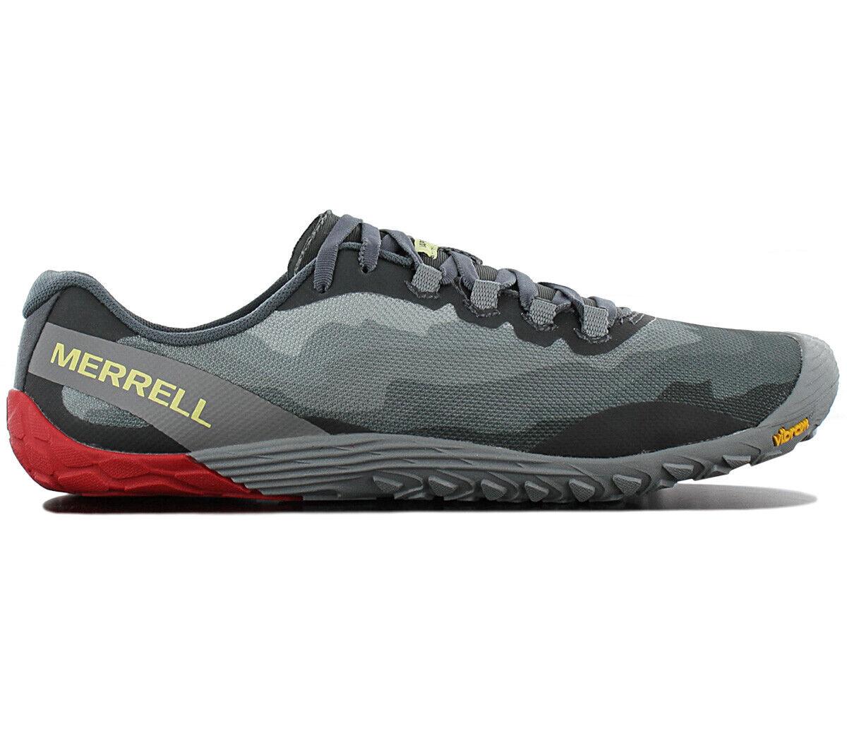 Guantes merrell vapor 4 zapatos masculinos descalzos j50403 zapatos grises