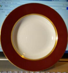 "2 Fitz & Floyd RENAISSANCE Cinnabar Large Rimmed Soup Bowls 9.25"" Ship Included!"