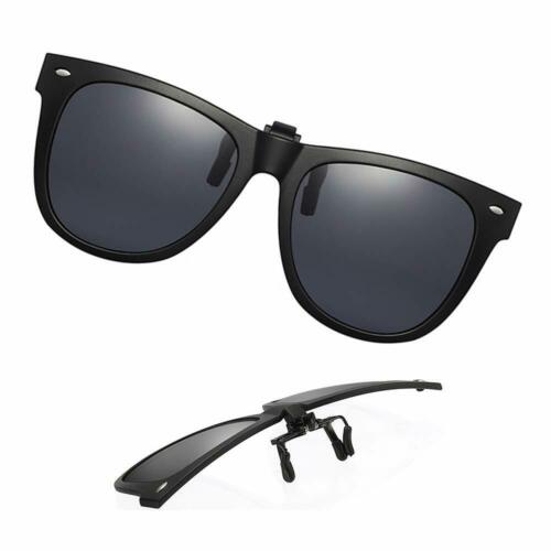 Clip-On Sunglasses Polarized Unisex Anti-Glare Driving Glasses With Flip Up For