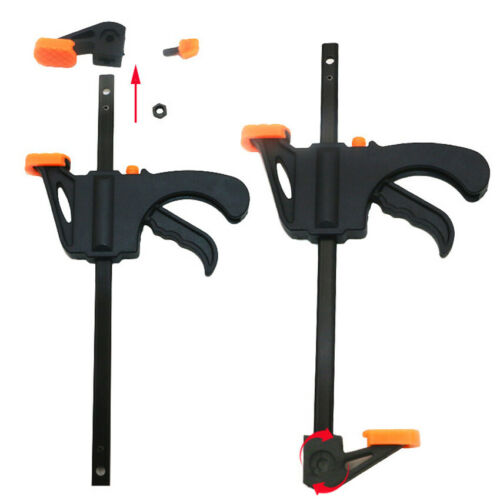 4 Inch F Clamp Grip DIY Wood Working Bar Ratchet Speed Release Squeeze DIY Hand