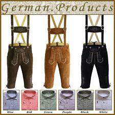 Set Gd New German Bavarian Trachten Oktoberfest Short Lederhosen 4 Pcs Package