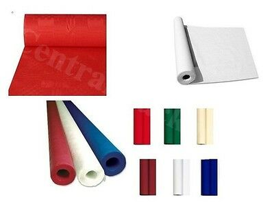Paper Table Cloths Banquet Roll Tablecovers Coloured Embossed Rolls Banqueting