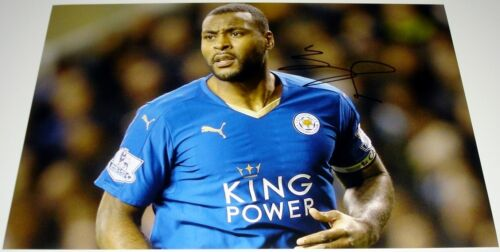 WES MORGAN LEICESTER CITY PERSONALLY SIGNED 12X8 AUTOGRAPH PHOTO