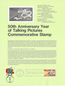 7714-13c-Talking-Pictures-Stamp-1727-Souvenir-Page-w-Superman