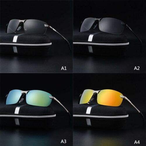 Practical Retro Men Pro Polarized Sunglasses Police Metal Half Frame Sunglass UK