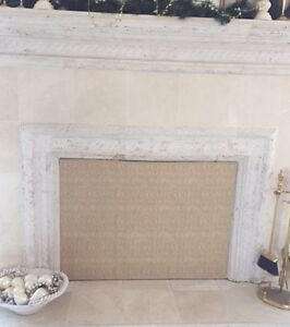 Insulated Magnetic Fireplace Fashion Cover To Stop Heatloss And Fireplace Drafts