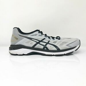 Asics Mens GT 2000 7 1011A158 Black Gray Running Shoes Lace Up Low Top Size 11