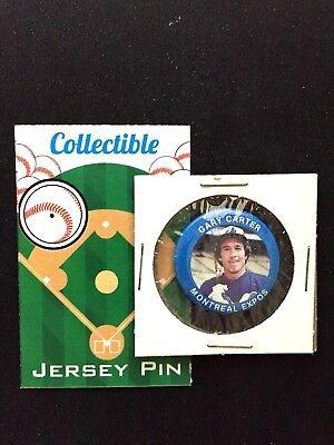Baseball & Softball Herzhaft Montreal Expos Gary Carter Pinback-mlb Klassisch Retro Collectible-the Kinder Hohe Belastbarkeit