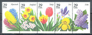 US-Stamp-L1363-Scott-2760-2764-2764a-Mint-NH-OG-Booklet-Pane-Flowers