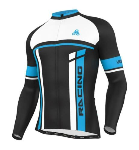 Urban Cycling Blue THERMAL WINTER fleece Jersey /& Bib Tights