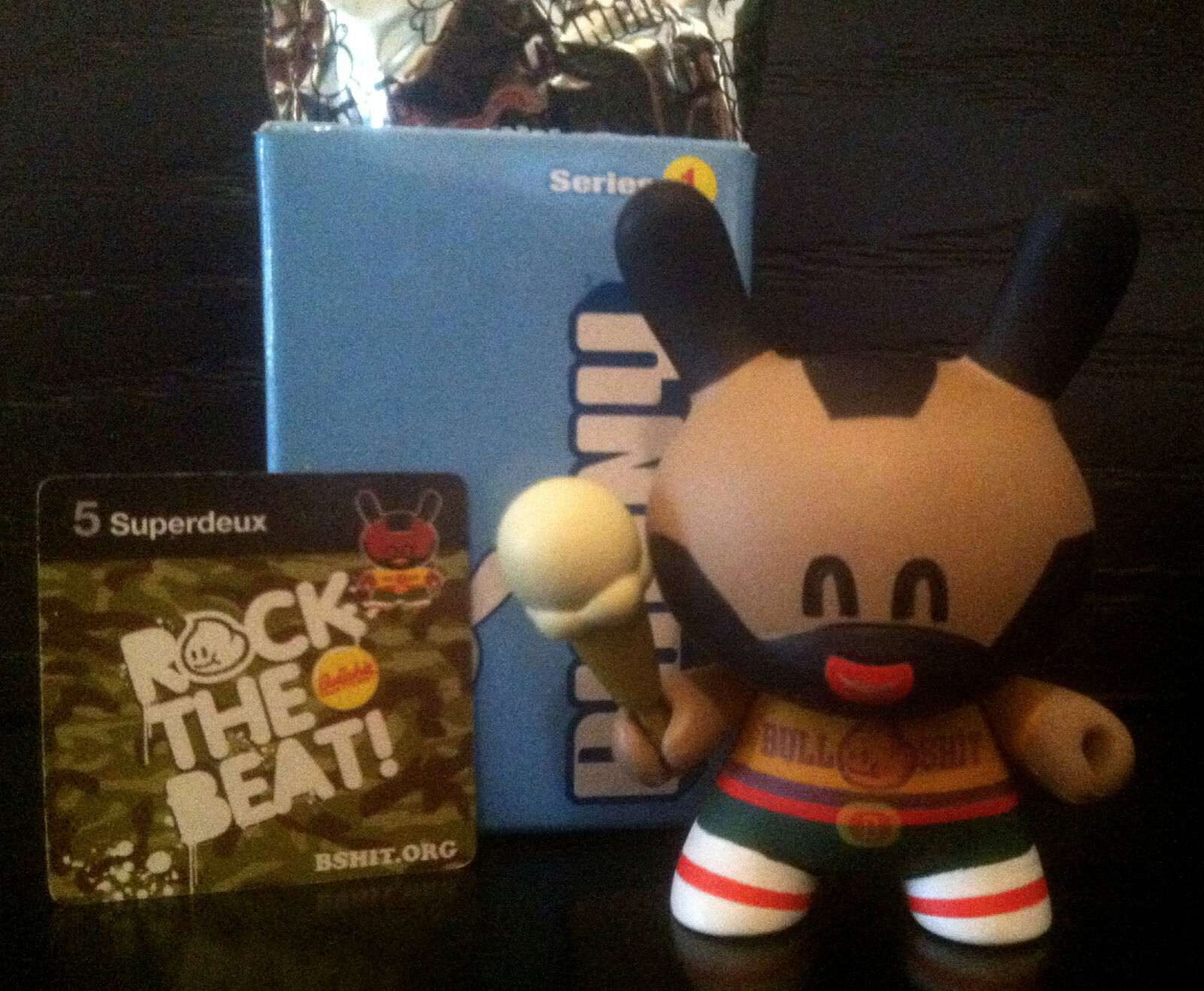 DUNNY DUNNY DUNNY 3  SERIES 1 SUPERDEUX ICE CREAM CONE 1 12 KIDROBOT 2004 COLLECTIBLE TOY 8f5baa