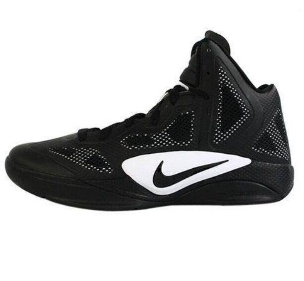 NIKE ZOOM HYPERFUSE 2011 TB BLACK WHITE BASKETBALL MEN SHOES