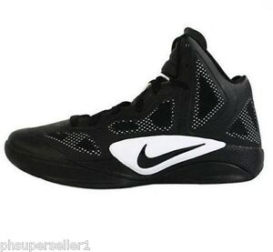Image is loading NIKE-ZOOM-HYPERFUSE-2011-TB-BLACK-WHITE-BASKETBALL-