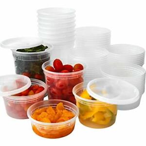 [8 12 16 24 32 Oz] Heavy Duty Plastic Deli Food/Soup Containers w/Airtight Lids