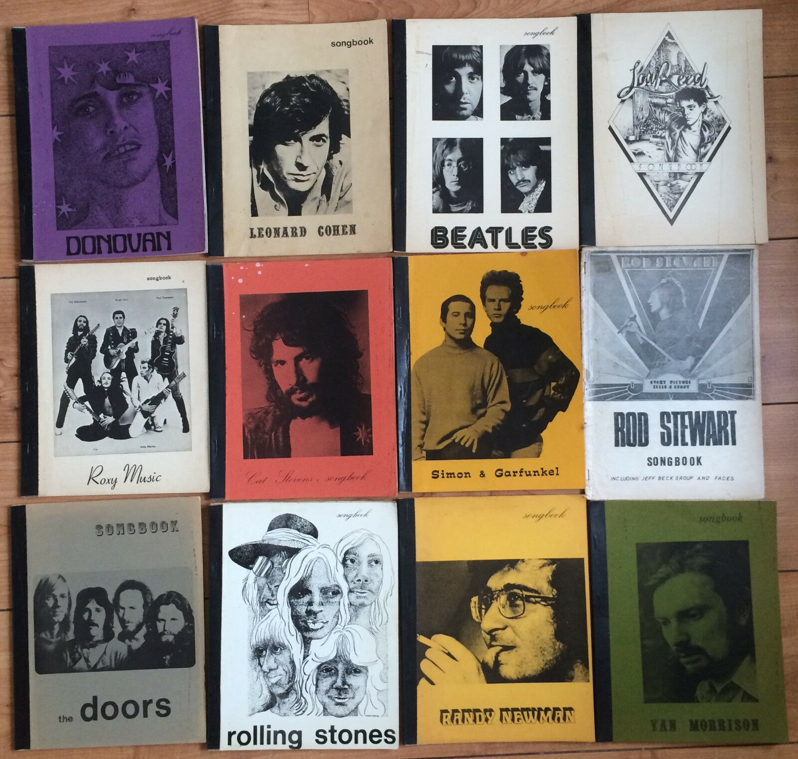 Songbook set of 13 Rolling Stone The Doors Beatles Rod Steward Van Morrison