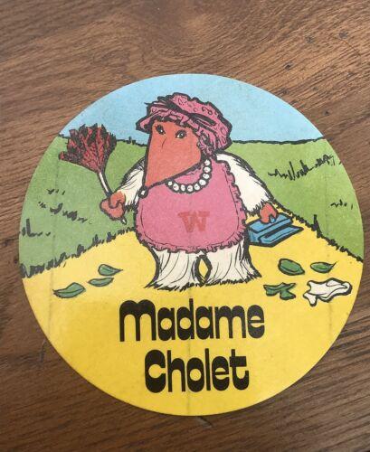 madame cholet original 1970s large wombles sticker scarce !