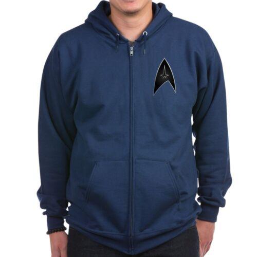 Zip Hoodie Star Trek Logo Black Silver CafePress