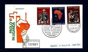 VATICANO-1969-Viaggio-di-Paolo-VI-in-Uganda-su-FDC-Venetia-raccom-B