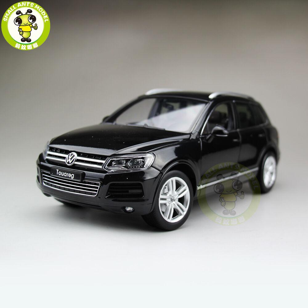 1/18 VW Volkswagen Touareg SUV Diecast Modelo Coche WELLY GT AUTOS 11005 Negro