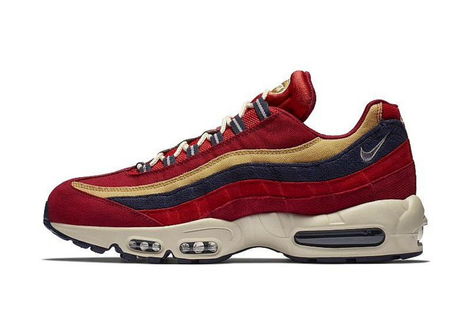 Nike Air Max 95 PRM Red Crush Wheat gold Sample 538416-603 UK8 EU42.5 US9