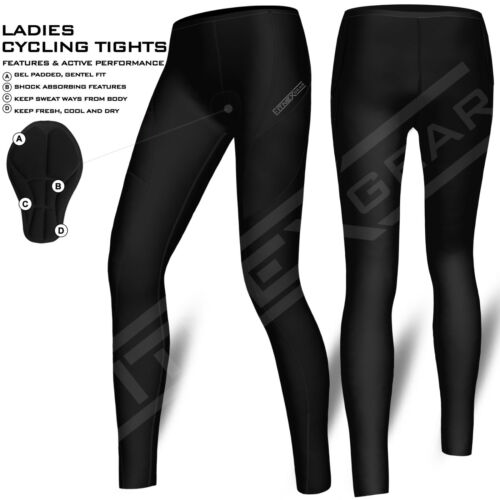 Trousers Ladies Cycling Tights Padded Compression Leggings Cycle Womens Tights