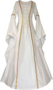 Mittelalter-Karneval-Hochzeit-Braut-Gewand-Kleid-Kostuem-Robe-Anna-Ecru-XS-60
