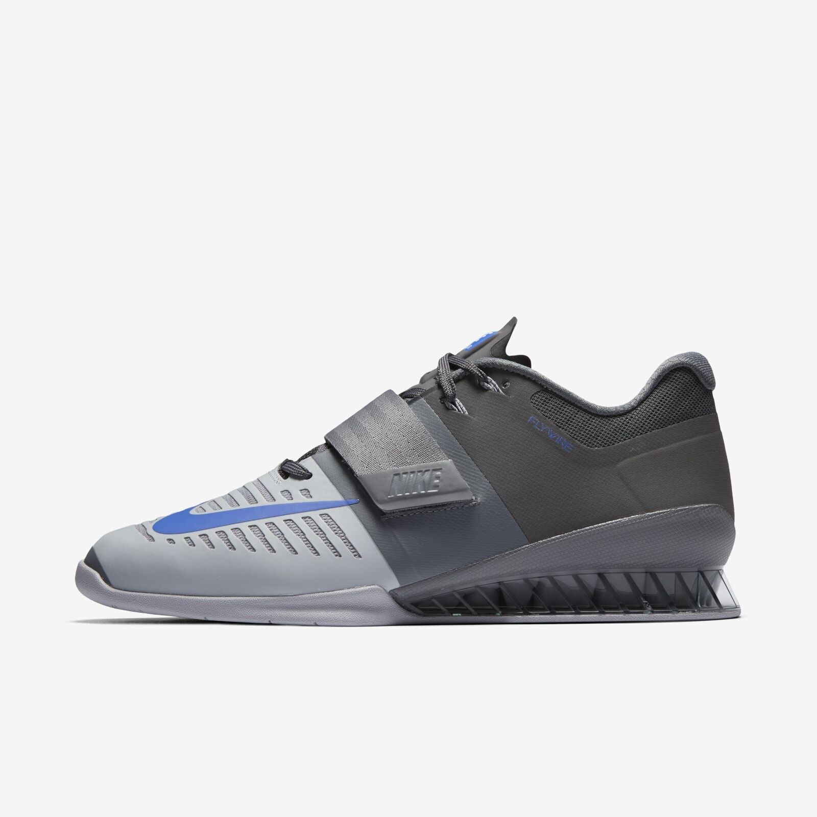 Uomo Nike Romaleos 3 Lifting Training Shoes Grey Blue Size 14 852933 001 NIB