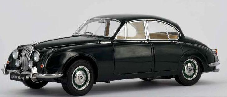 PARAGON 98313r 98314r la Daimler V8 250 1967 pressofusione ROAD CARS BIANCO / VERDE 1:18 TH